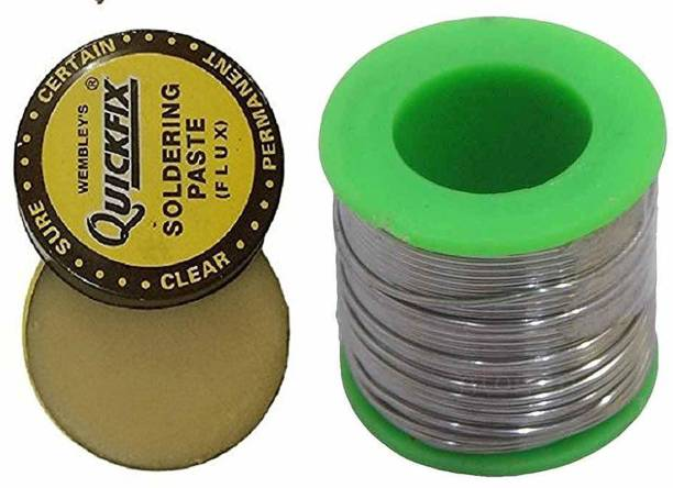7Q7 Engineer Choice Electronic Soldering wire 50 Grams Reel Solder + 15gm Flux 25 W Simple