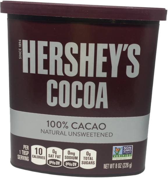 HERSHEY'S 100% Cocoa Natural Unsweetened Cocoa Imported Cocoa Powder
