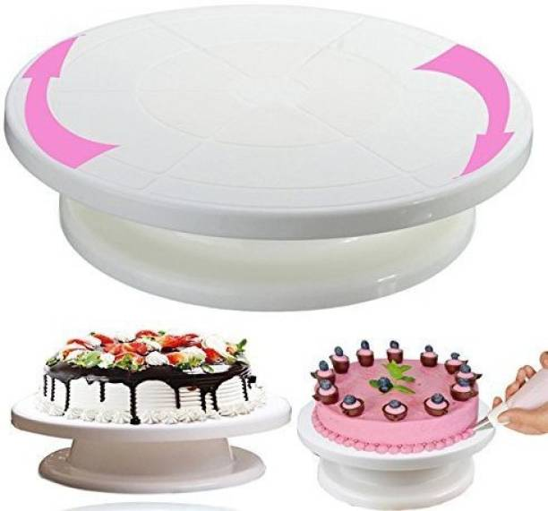 Ambition CACK TURNTABLE REVOLVING CACK STAND 360'' Plastic Cake Server