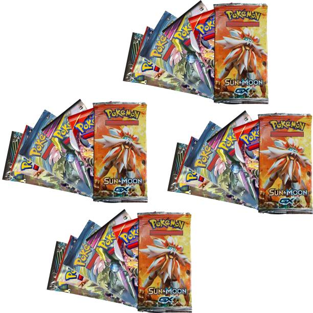 VK MART HIGH QUALITY DESGINE SUN AND MOON GX CARDS (PACK OF 24)