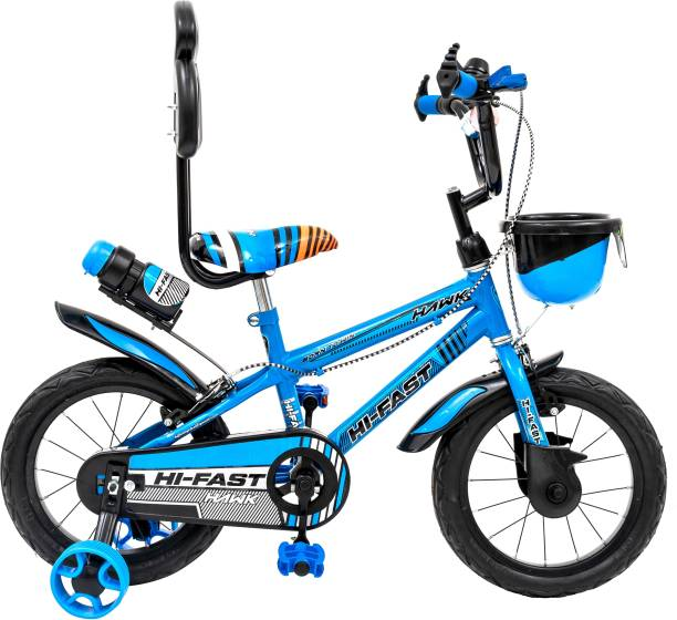 Hi-Fast Cycle For Boys & Girls with Training Wheels (Semi Assembled) 14 T BMX Cycle