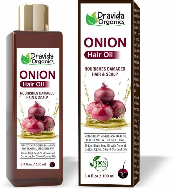 Dravida Organics Onion Hair Oil Preventing Hair Loss & Promoting Hair Growth Hair Oil