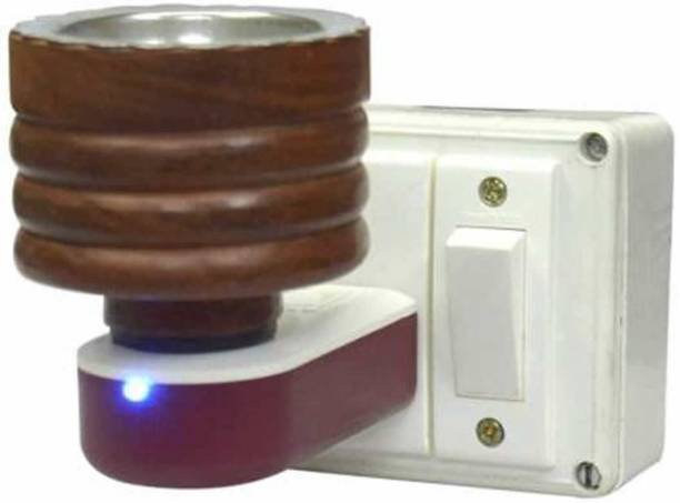 CraftQua Wooden Multipurpose Direct Plug in Mini Wooden Electric Incense Burner Bakhoor Dani Kapoor Dani Aroma Diffuser Camphor Burner Wooden, Plastic, Stainless Steel Incense Holder
