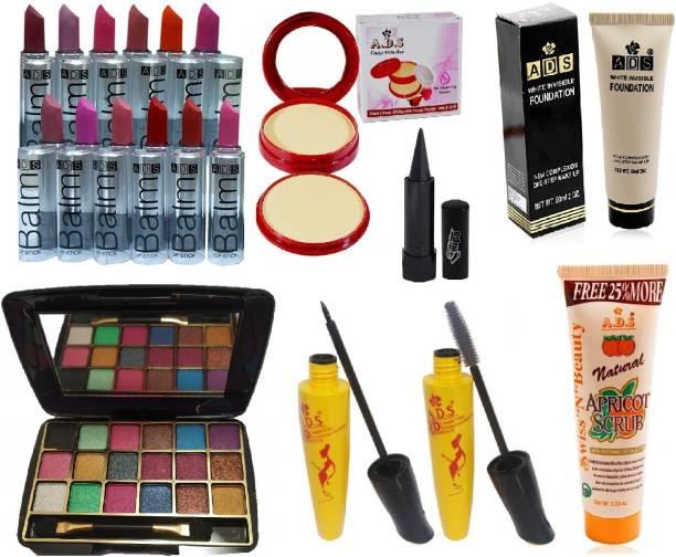 SWIPA Kajal+12Pcs Combo Balm Lipstick+18 Colour Mini Eyeshadow