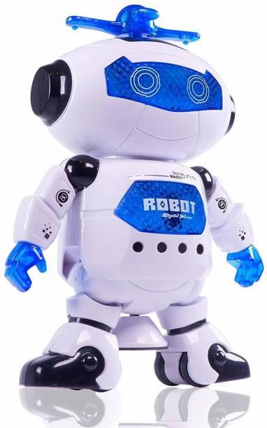 HEYANSH Musical Dancing Robot Car Toys for Kids   Robot with Music, 3D Flashing Lights, Dancing Naughty Robot for Kids