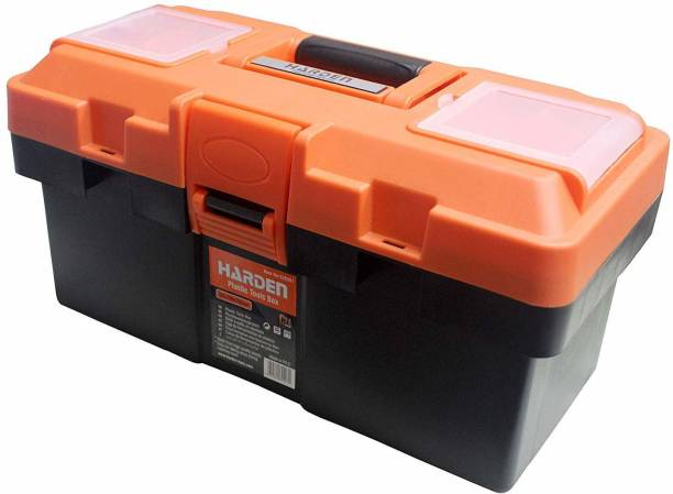 Harden Professional Reinforced Plastic Moulding Tool Box with Transparent Accessories Storage Box and Isolation Tray (35.5 X 18 X 18.5 cm) - 520301 Tool Box