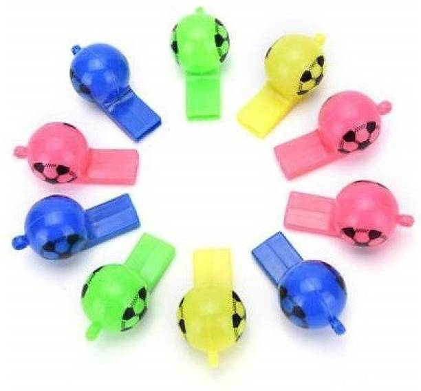 Quinergys QYS-234614™Stylish Football Shape Plastic Premium Whistle Pea Whistle