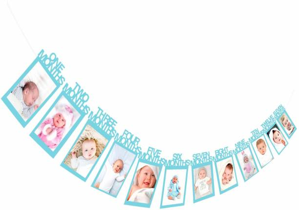 AMFIN photo banner for first birthday / First Year Birthday Photo Banner / Monthly Photo Banner (12 Months) Banner