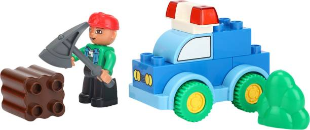 Miss & Chief Forest Police Car Block Set