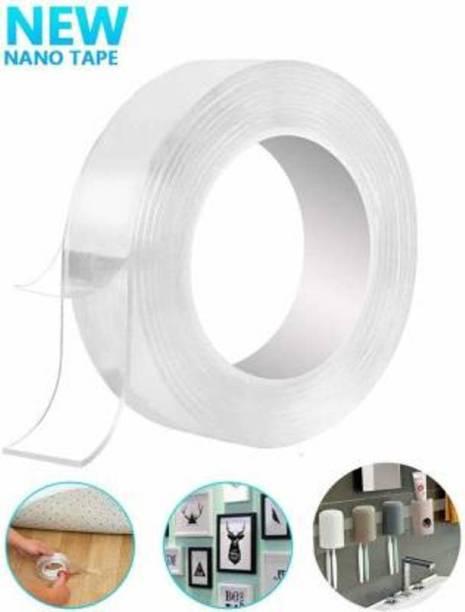 Jency Double sided Nano Magic Grip Waterproof Reusable Tape Dispenser Magic tape (Manual)