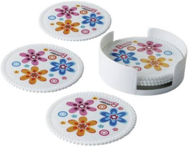 aaKaR Round PVC Coaster Set