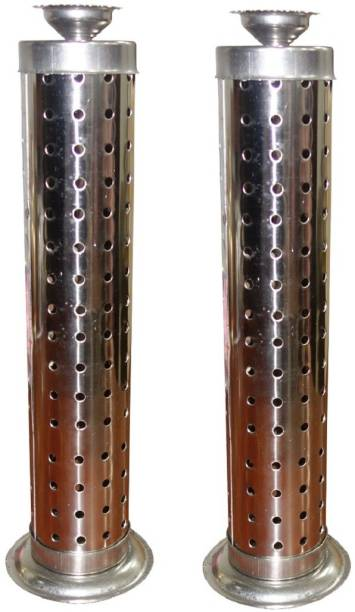 SWAMEE 2 NOS. OF AGARBATTI STAND STAINLESS STEEL INCENSE HODER Steel Incense Holder Set