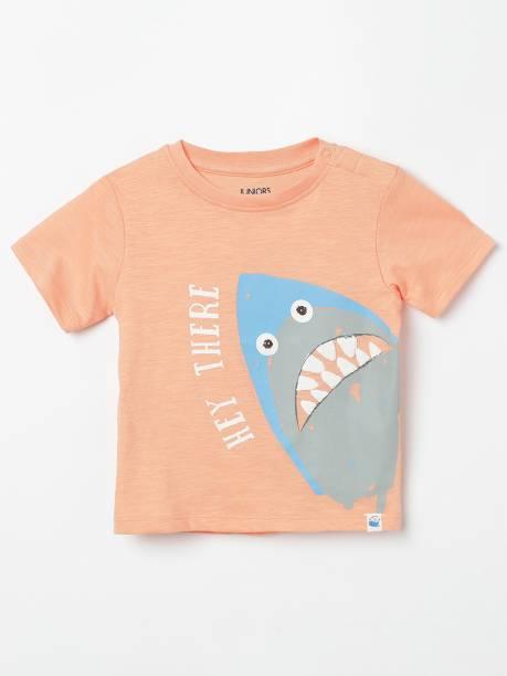 JUNIORS Boys Printed Pure Cotton T Shirt