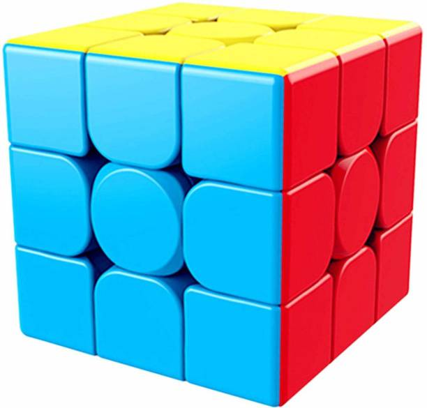 D ETERNAL MoYu MeiLong 3x3x3 High Speed Stickerless Magic Puzzle Cube Game Toy ,Multicolor