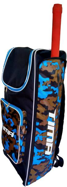 Tima Cricket Kit Bag Canvas Kit Bag, 70cm x 33 cm x 19cm (Blue/Black)