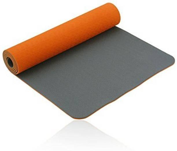 IRIS Fitness Non Slip TPE Yoga Mat for Hot Yoga Pilate Gymnastics Orange, Grey 6 mm Exercise & Gym Mat