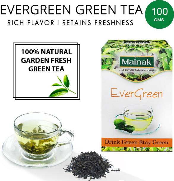 Mainak Natural and Pure Evergreen Green Tea Box