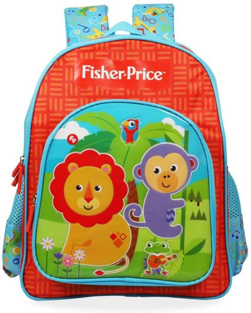 FISHER-PRICE Pre-School Red & Blue (LKG/UKG/1st std) School Bag