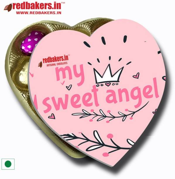redbakers.in My Sweet Angel Chocolates Heart Gift Pack Truffles