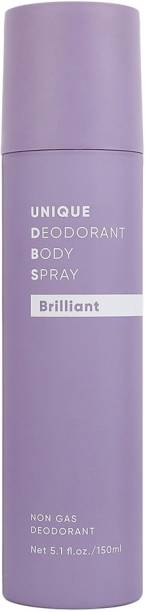 MINISO Unisex Non-Gas Deodorants Body Spray, 150ml (Brilliant) Deodorant Spray  -  For Men & Women