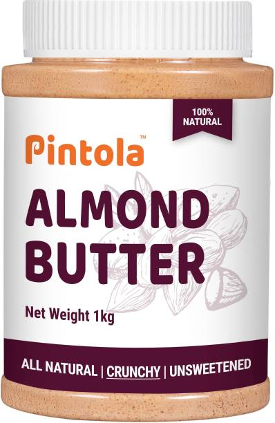 Pintola All Natural Almond Butter (Crunchy) (Unsweetened) 1000 g