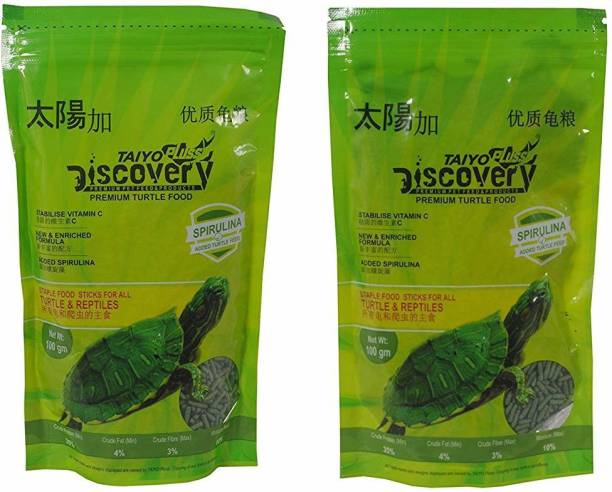 TAIYO Pluss Discovery Turtle 100gm Pouch (Pack of 2) 0.2 kg (2x0.1 kg) Dry Young Turtle Food