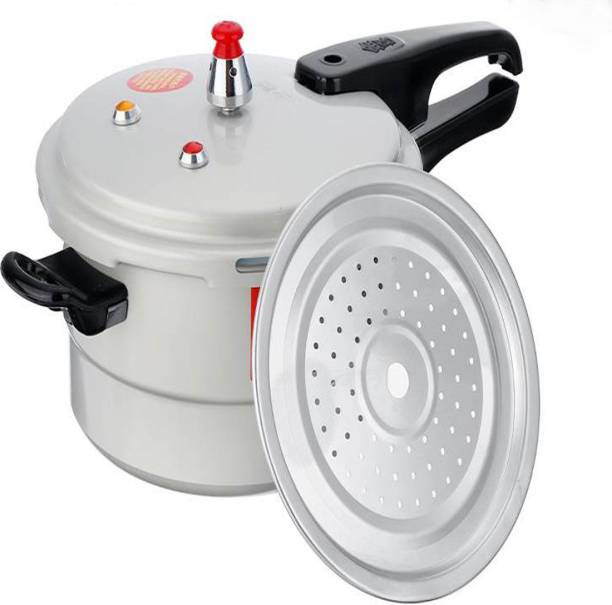 pinkparifashion 5L Aluminum Pressure Gas Cooker with Induction Bottom with steam(22cm) 5 L Induction Bottom Pressure Cooker