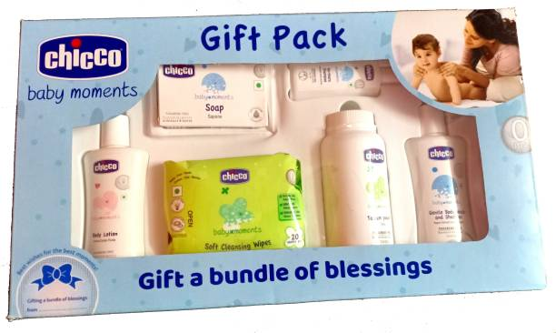 Chicco Baby Moments Gift Pack , Blue 0m+