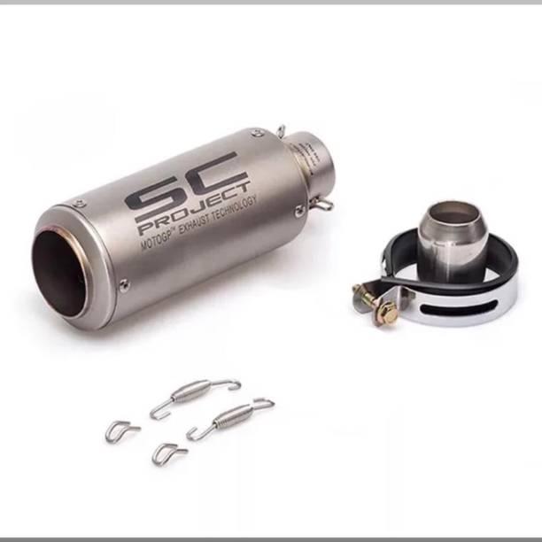 BIKER SHOPPEE Yamaha, KTM, Kawasaki, Honda, Bajaj Universal For Bike Full Exhaust System
