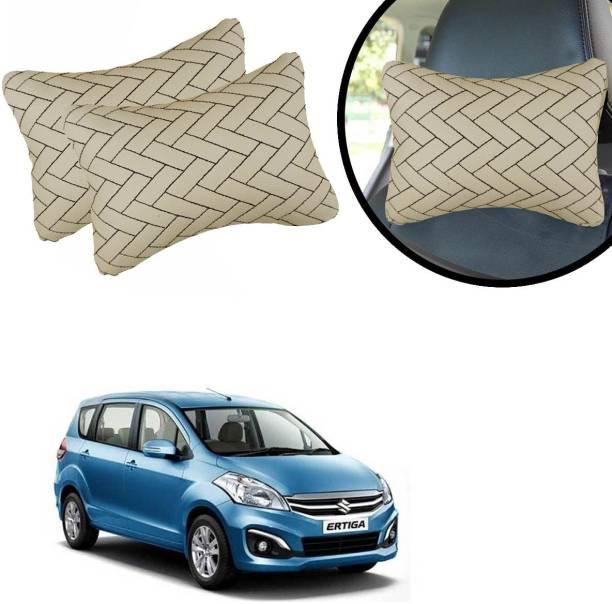 AutoKraftZ Beige Leatherite Car Pillow Cushion for Maruti Suzuki