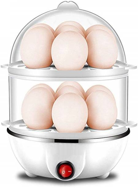 Tormeti Double Layer Egg Boiler Off 14 Egg Poacher for Steaming, Cooking, Boiling and Frying EGG COOKER C Egg Cooker