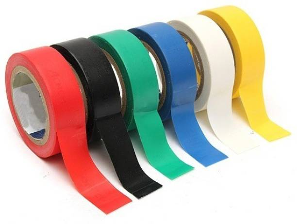 Care N Touch PVC Tape Electrical PVC Tape (Pack of 5) Self Adhesive Electrical Insulation Tape