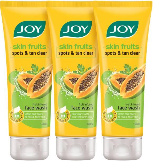 Joy Skin Fruits Spots & Tan Clear Papaya Fruit Infused  Face Wash