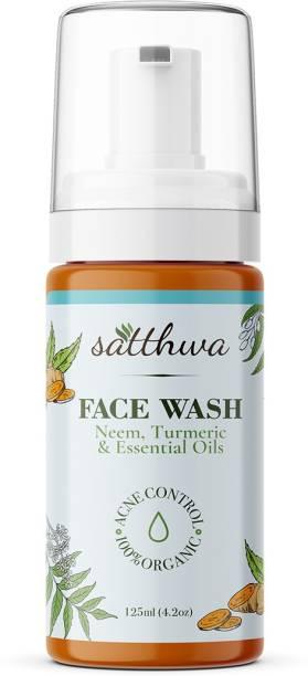 Satthwa Neem & Turmeric Foaming  Face Wash