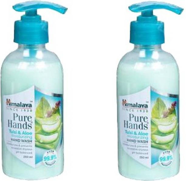 HIMALAYA PURE HANDS TULSI ALUVERA HAND WASH 250 ML (2*250 =500 ML ) PACK OF TWO Hand Wash Pump Dispenser