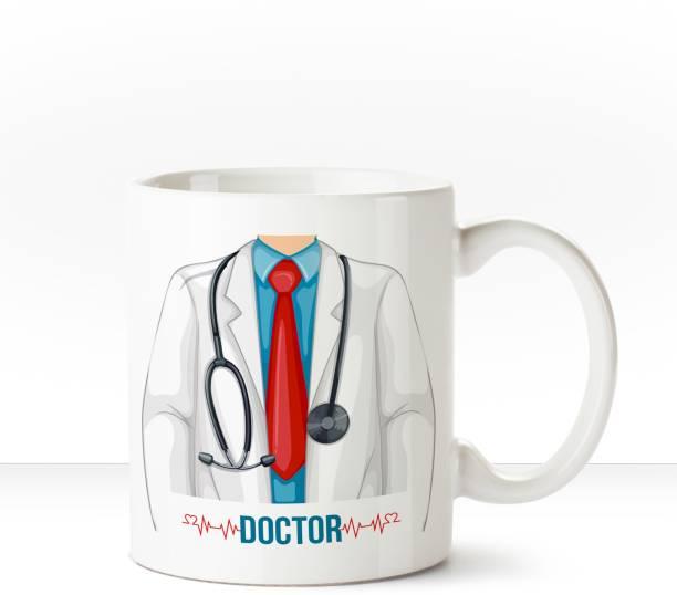 HUPPME Doctor White Coffee Ceramic Coffee Mug