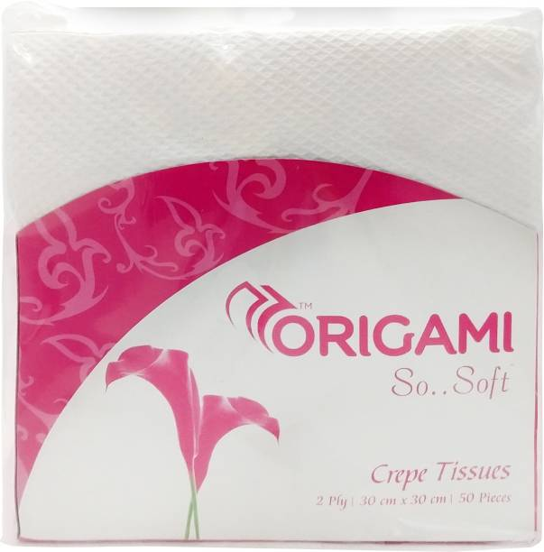 Origami So Soft Crepe Tissues White Napkins
