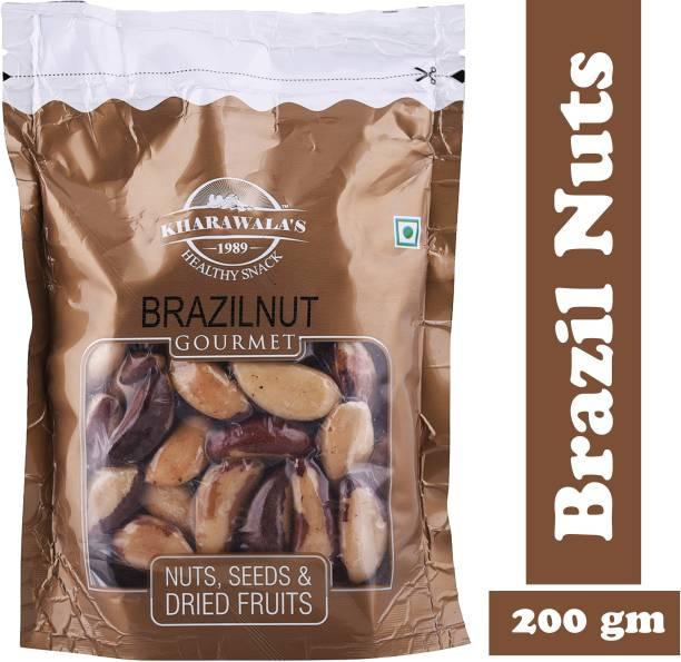 KHARAWALA'S United State Jumbo Premium Quality Brazil Nut 200 Grams Brazil Nuts
