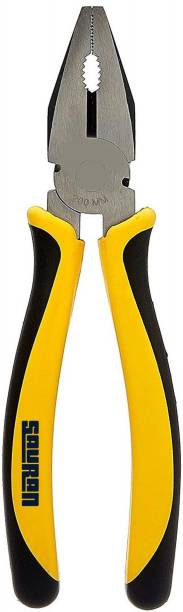 """Sauran Combination Plier (With warranty) 8"""" Heavy Duty for Home, office and work stations Lineman Plier"""