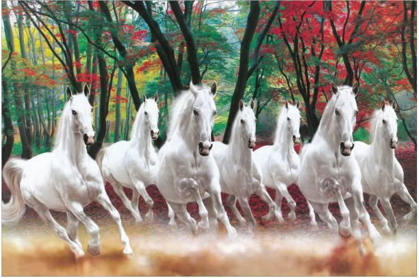 7 HORSES VASTU POSTER Fine Art Print