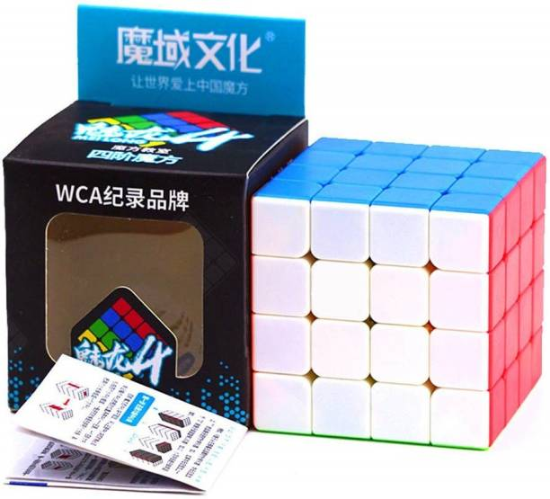 D ETERNAL MoYu MFJS MeiLong 4 4X4X4 High Speed Stickerless Magic Puzzle Cube Toy ,Multicolor