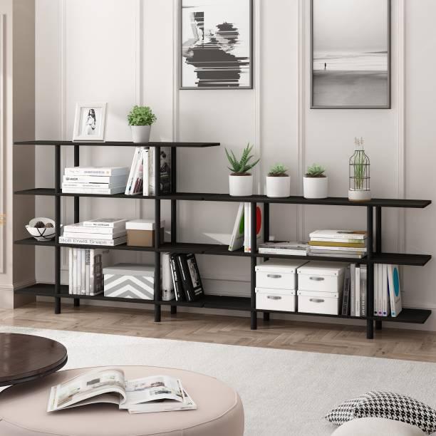 FURINNO Engineered Wood Open Book Shelf
