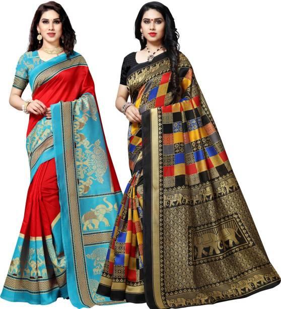 Anand Printed Bhagalpuri Silk Blend Saree