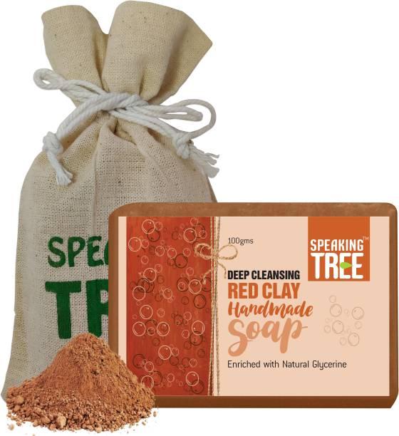 Speaking tree Deep Cleansing Red Clay Handmade Soap - 100gms