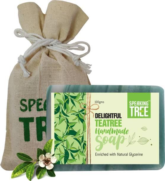 Speaking tree Delightful TeaTree Handmade Soap - 100gms