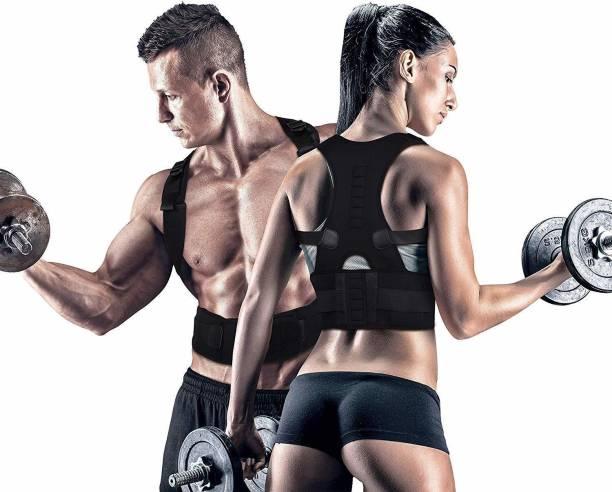 LivEasy Magnetic Back Brace Posture Corrector & Shoulder Belt-Men & Women(Universal Size) Back Support