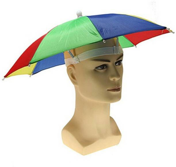 LAMRA Hands Free Umbrella Hat to Protect from Sun & Rain for School Going Kids and Adults . Umbrella