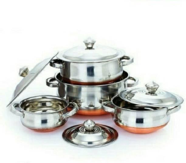 Kitchen 4PC Copper Cookware Set Cookware Set