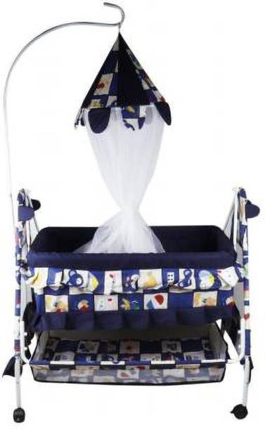 DUGGY DUGGY Newborn Baby LittleNest Bassinet Cradle with Mosquito Net-Canopy And Wheels Recommened For Cradle For Baby With Net And Swing kids Cradle Baby Cradle Mosquito Net Cradle baby cradle jhula swing (Blue)