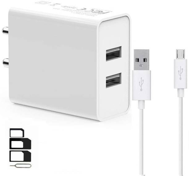 OV Wall Charger Accessory Combo for ZTE Blade A2 Plus, ZTE Blade V6, ZTE V5, ZTE Star 1, ZTE Blade Q Lux 4G, ZTE Blade L2 Dual Port Charger Original Adapter Like Wall Charger, Mobile Power Adapter, Fast Charger, Android Smartphone Charger, Battery Charger, High Speed Travel Charger With 1 Meter Micro USB Cable Charging Cable Data Cable